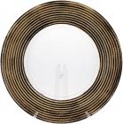 Блюдо сервировочное 33см, подставная тарелка, стекло, прозрачный с золотом