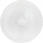 Блюдо сервировочное 33см, подставная тарелка, стекло, прозрачное серебро и узор от центра