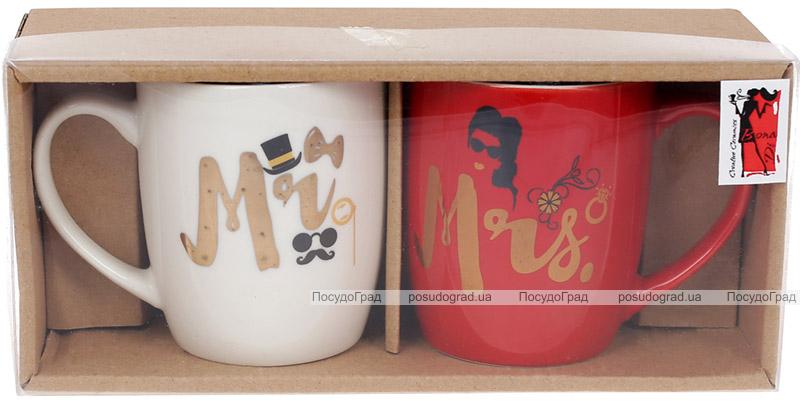 """Набор 2 кружки """"Mr&Mrs"""" 250мл фарфор"""