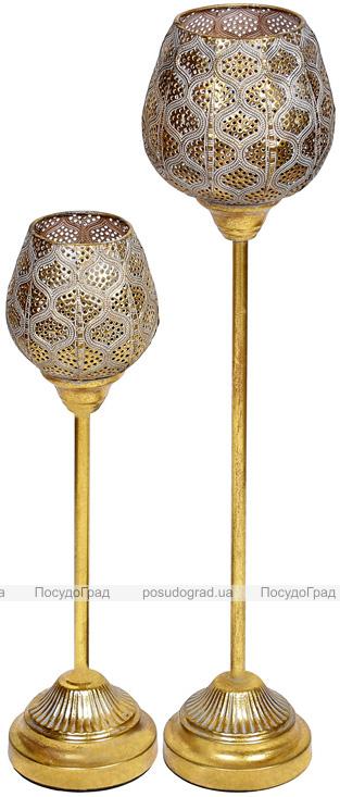 Підсвічник декоративний Cornel Eias зі скляною колбою 15х15х65см, на нозі