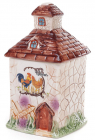 Банка Домик в деревне для сыпучих продуктов 600мл, керамическая