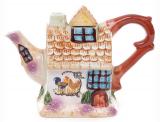 """Чайник заварочный """"Домик в деревне"""" 600мл, керамический"""