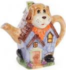 """Чайник заварочный """"Домик в деревне"""" Собака 1200мл, керамический"""