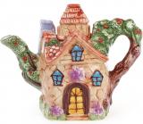 """Чайник заварювальний """"Будиночок в селі"""" Ягідка 800мл, керамічний"""