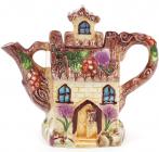 """Чайник заварювальний """"Будиночок в селі"""" Ягідка 750мл, керамічний"""