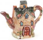 """Чайник заварювальний """"Будиночок в селі"""" Ягідка 700мл, керамічний"""