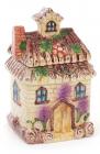 """Банка """"Будиночок в селі"""" для сипучих продуктів 700мл, керамічна"""