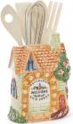 "Подставка ""Домик в деревне"" 15х8х20см для кухонных принадлежностей"