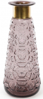 Ваза для квітів Ancient Glass настільна Ø14х35.5см, фіолетове скло