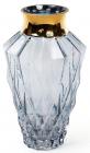 Ваза для квітів Ancient Glass настільна Ø15.5х25см, блакитне скло