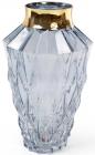 Ваза для квітів Ancient Glass настільна Ø18.5х30см, блакитне скло