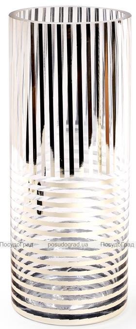 Ваза для цветов Ancient Glass настольная Ø12х30см, стекло с позолотой