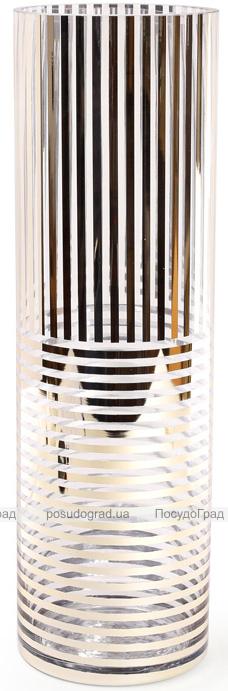 Ваза для цветов Ancient Glass настольная Ø12х40см, стекло с позолотой