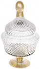 Конфетница Шевалье 11х17х31см стеклянная с позолотой, бонбоньерка