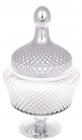 Банка Шевальє 11х17х31см скляна зі сріблом
