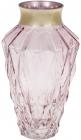 Ваза для квітів Ancient Glass Брюссель настільна 8.5х15.5х23см, рожеве скло