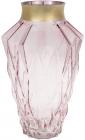 Ваза для цветов Ancient Glass Брюссель настольная 9.5х18.5х30см, розовое стекло