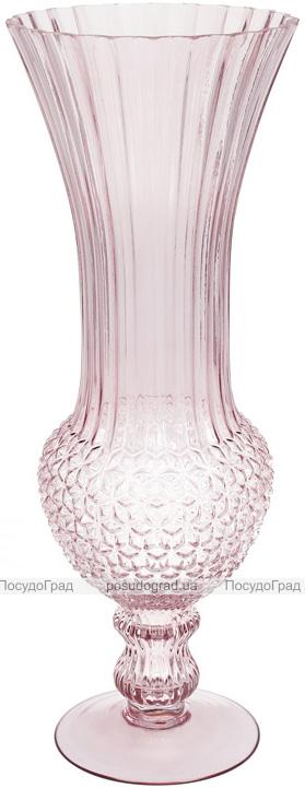 Ваза декоративная Ancient Glass Ля-Рошель 17.5х17.5х45см, розовое стекло