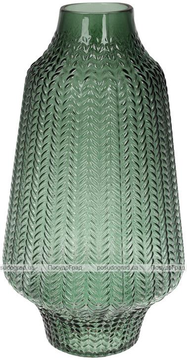 Ваза декоративна Ancient Glass Медіна 6.5х18х32см, зелене скло