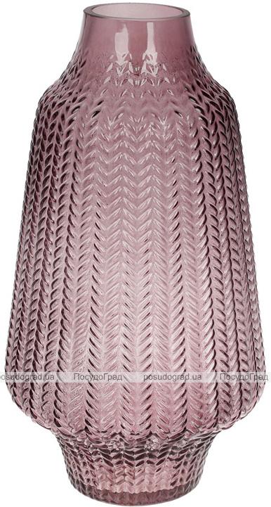 Ваза декоративная Ancient Glass Медина 6.5х18х32см, фиолетовое стекло