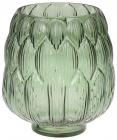 Ваза декоративная Ancient Glass Артишок 13х18х20см, зеленое стекло