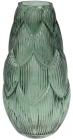 Ваза декоративная Ancient Glass Артишок 8.8х17х35см, зеленое стекло