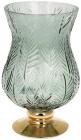 Ваза декоративная Ancient Glass Розалин 14х15х25см, зеленое стекло