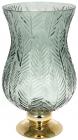 Ваза декоративная Ancient Glass Розалин 19х20х35см, зеленое стекло