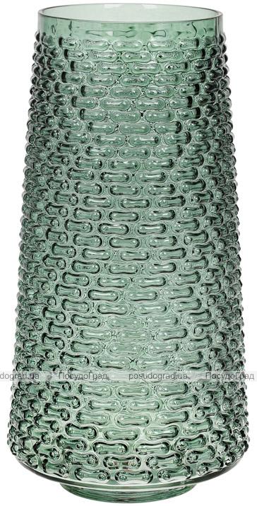 Ваза декоративна Ancient Glass Флора Ø19х32.5см, зелене скло