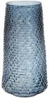 Ваза декоративна Ancient Glass Флора Ø19х32.5см, блакитне скло