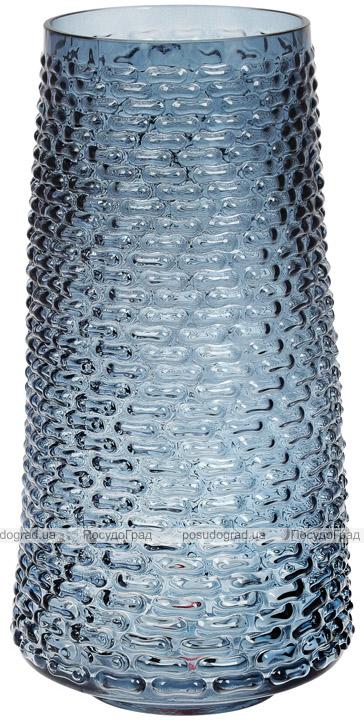 Ваза декоративная Ancient Glass Флора Ø19х32.5см, голубое стекло