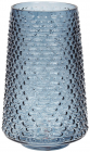 Ваза декоративная Ancient Glass Флора Ø16.5х26.5см, голубое стекло
