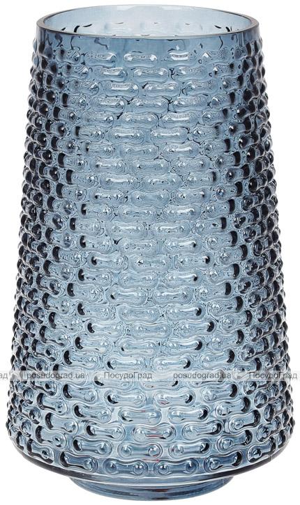 Ваза декоративна Ancient Glass Флора Ø16.5х26.5см, блакитне скло