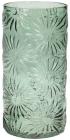 Ваза декоративна Ancient Glass Айстра Ø15х30.5см, зелене скло
