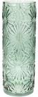Ваза декоративная Ancient Glass Астра Ø15х42.2см, зеленое стекло