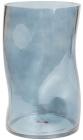 Ваза декоративная Ancient Glass Волна Ø15х25см, голубое стекло