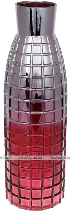 Ваза декоративная Ancient Glass Топаз Ø15х49см, красное стекло