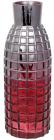Ваза декоративна Ancient Glass Топаз Ø12х33см, червоне скло