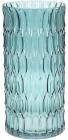 Ваза декоративна Ancient Glass Катті Ø15х30см, блакитне скло