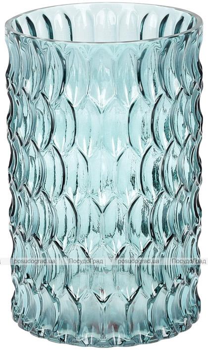 Ваза декоративная Ancient Glass Катти Ø13х20см, голубое стекло