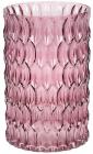 Ваза декоративна Ancient Glass Катті Ø13х20см, бузкове скло