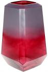 Ваза декоративна Ancient Glass Дайманд Ø18х30см, червоно-фіолетове скло