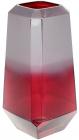 Ваза декоративна Ancient Glass Дайманд Ø13х26см, червоно-фіолетове скло