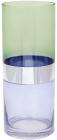 Ваза декоративна Ancient Glass Грегор Ø12х30см, зелений з блакитним