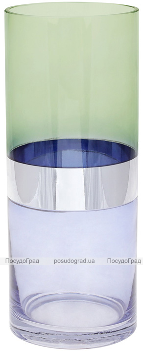 Ваза декоративная Ancient Glass Грегор Ø12х30см, зеленый с голубым