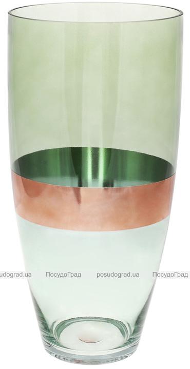 Ваза декоративна Ancient Glass Поллі Ø18х37.5см, зелений з блакитним
