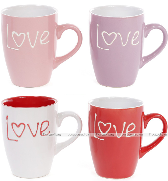 "Кружка Shabby Chic ""Love"" 330мл керамика"