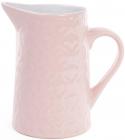 """Глечик керамічний """"Ніжний орнамент"""" 860мл, рожевий"""