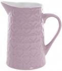 """Глечик керамічний """"Ніжний орнамент"""" 860мл, фіолетовий"""