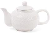 """Чайник заварочный """"Нежный орнамент"""" 1000мл, керамический, белый"""